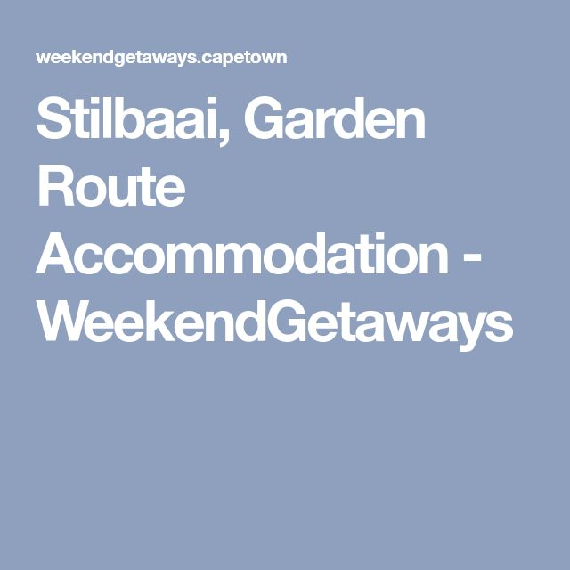 Stilbaai, Garden Route Accommodation - WeekendGetaways