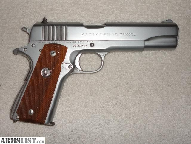 colt 45 model 1911 mark iv stainless steel | For Sale: Colt 1911 45acp Stainless Steel Mark IV Series 70 1974 ...