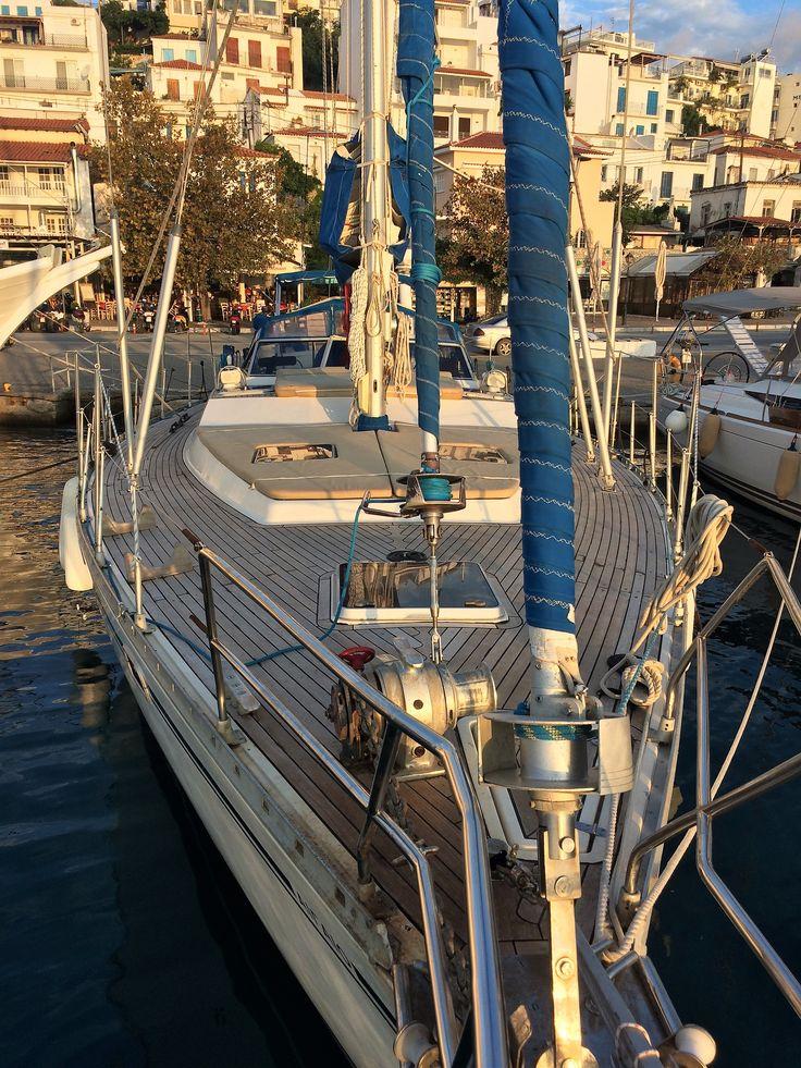 sunset over the AEGEO @ Skiathos port