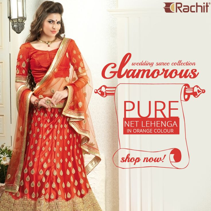 Take a look at our glamorous wedding lehenga saree collection.