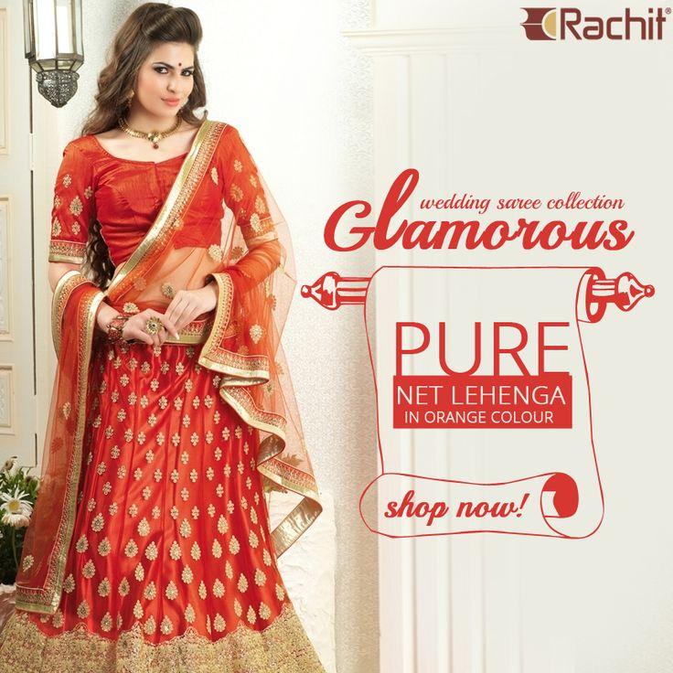 Take a look at our glamorous wedding lehenga saree collection.