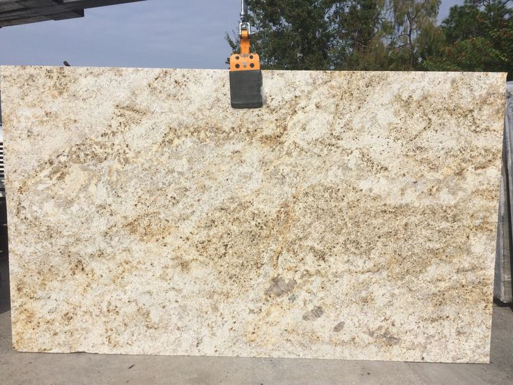 #ColonialGold #granite is a blend of gold and yellow with cream background which goes with any #kitchendesign. Colonial Gold is perfect #naturalstone #countertops for light and dark #kitchencabinet or #kitchenisland