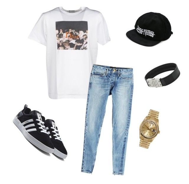 """""""Untitled #435"""" by aintdatjulian on Polyvore featuring Christian Dior, Fear of God, Off-White, Rolex, Louis Vuitton, men's fashion and menswear"""