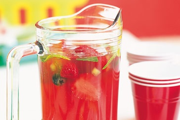 Kids and adults love this Santa Claus Punch made with Cranberry, Raspberry and pineapple juice recipe from taste.com.au