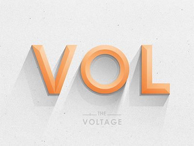 Dribbble - Voltage Type by Yoga Perdana
