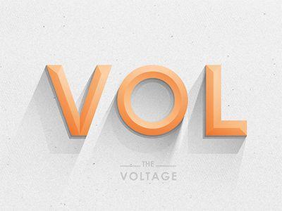 Dribbble - Voltage Type by Yoga Perdana