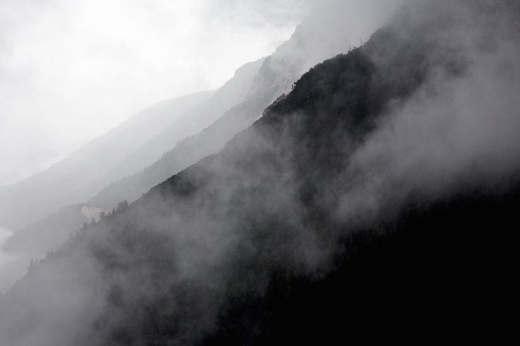 Trekking can be about misty morning.
