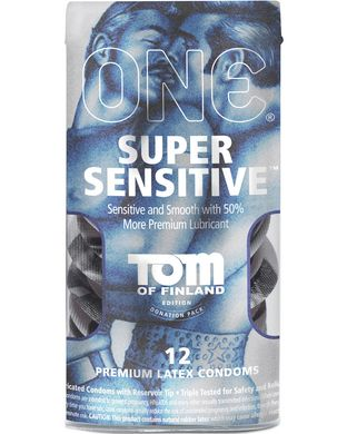 ONE Super Sensitive Lubricated Condoms -12 Pack Made with an advanced latex formula called Sensatex #condoms