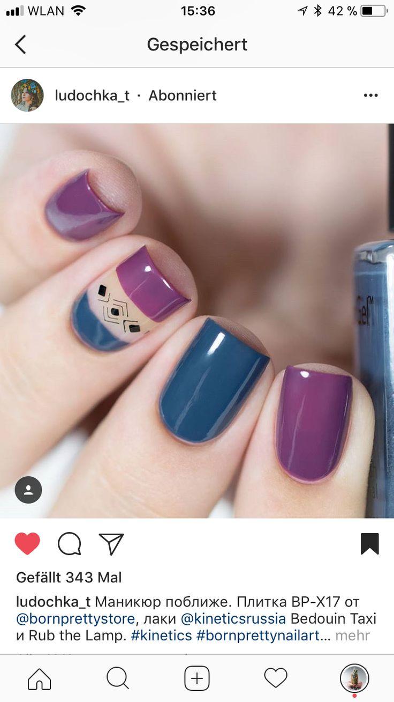 Morado y azul
