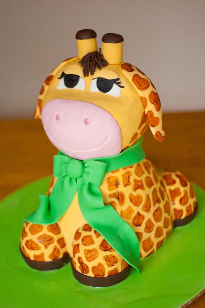 Giraffe cake for 1yr olds birthday-too cute!