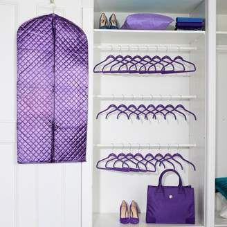 JOY 35-piece Perfect Closet Huggable Hangers Set with Chic Garment Bag - Chrome There's no such thing as too many clothes, but space to put them in — that's another story! Make your wardrobe really work with this complete set that offers slim hangers, clips, hooks and a double garment bag that save on space in your closet and protect your favorite pieces. Now there's plenty of room for that new dress you've been eyeing. #ad