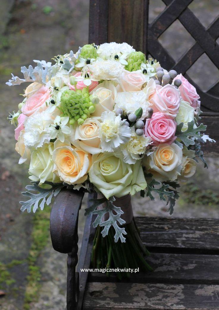 pastelowy bukiet ślubny