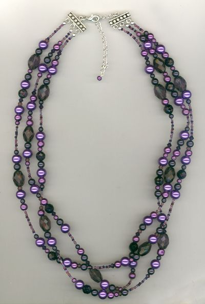 handmade beaded jewelry ideas melinda jernigan purple champagne beaded crystal and pearls - Handmade Jewelry Design Ideas