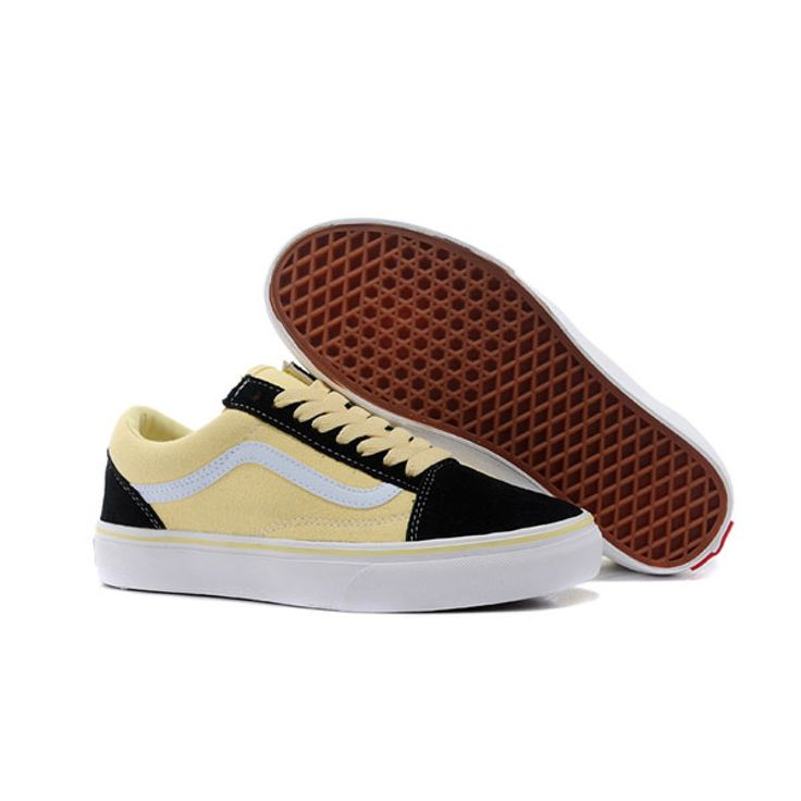 Vans Shoes Black/Yellow The Mood For Love Old Skool Shoes Womens Classic  Canvas