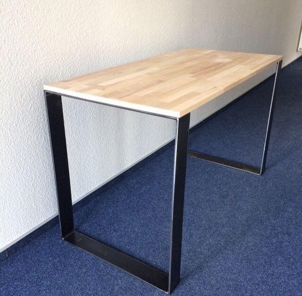 Esstische   2er Set Tischbeine Stahl Design Tischkufen Tisch   Ein  Designerstück Von Blechmacher Bei DaWanda