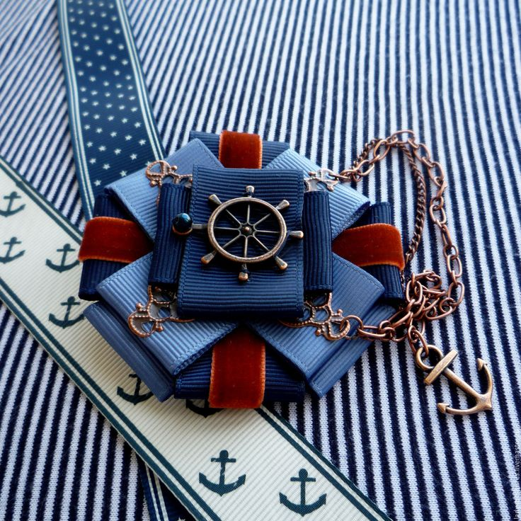 """Купить """"Vintage Yachting Games""""2 - брошь орден в морском стиле. - брошь орден морской"""