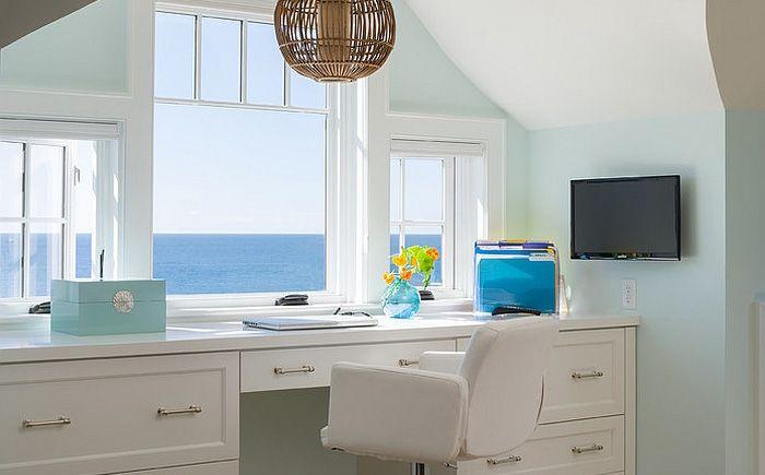 Домашний офис в пляжном стиле от George Penniman Architects