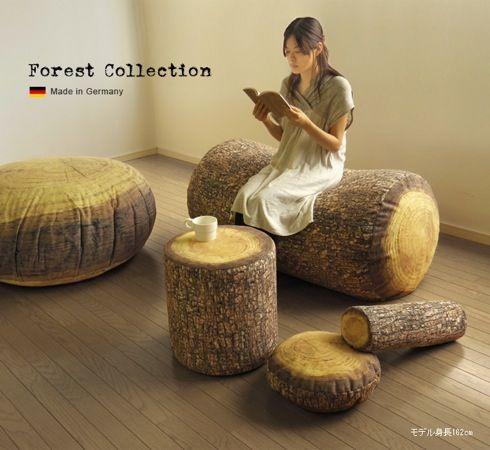 森ガールにおすすめ?丸太のクッション【Forest Collection】