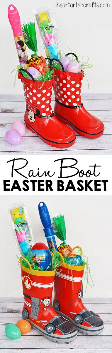 I love adding creative spins to my kids Easter baskets every year instead of giving them the traditional Easter wicker basket. This year I decided to use something that the kids needed and it included their favorite cartoon characters. I came across these adorable Minnie Mouse and Paw Patrol rain boots and had to use them! …