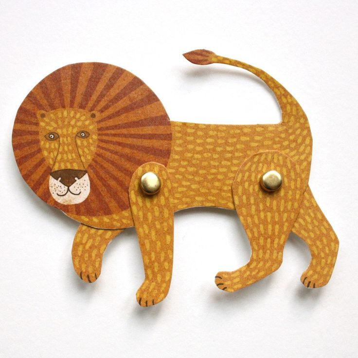 Cut Out and Make Lion Puppet Card by Alice Melvin | Cut Out and Make Puppet…