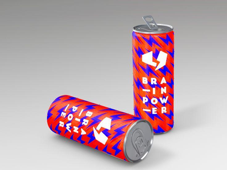 """Popatrz na mój projekt w @Behance: """"Brain Power - energy drink"""" https://www.behance.net/gallery/47660271/Brain-Power-energy-drink"""