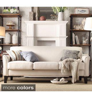 Diamond White Bonded Leather Sleeper Sofa - Overstock Shopping - Great Deals on Sofas & Loveseats