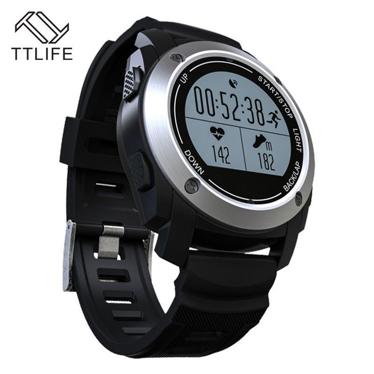 Smartwatch GPS heart rate monitor pressure