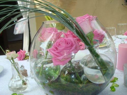 Bulle d 39 eau composition florale pinterest r ceptions for Perle d eau decoration florale