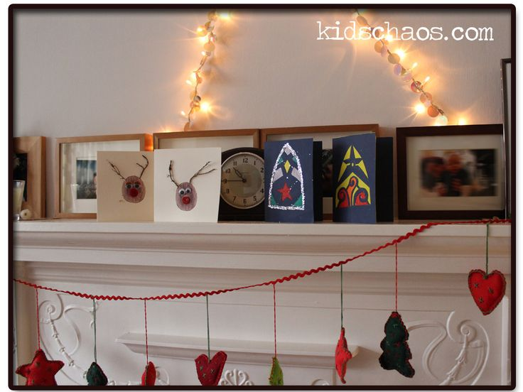 Home-made Christmas Cards – Stained Glass and Potato Prints