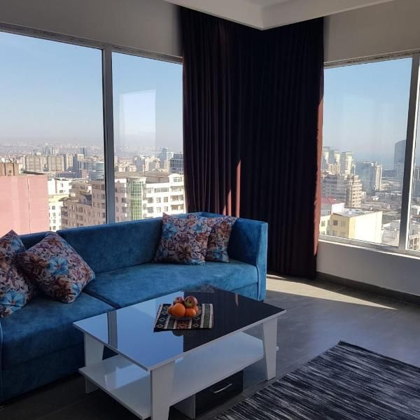 Panorama Of Baku 23 Floor Panorama Of Baku 23 Floor Has Well Equipped Accommodation Featuring Free Wifi In Sofa Bed Bedroom Outdoor Sectional Sofa Flooring