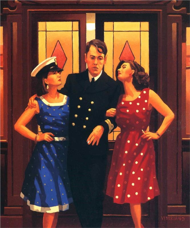 And so to Bed - Jack Vettriano