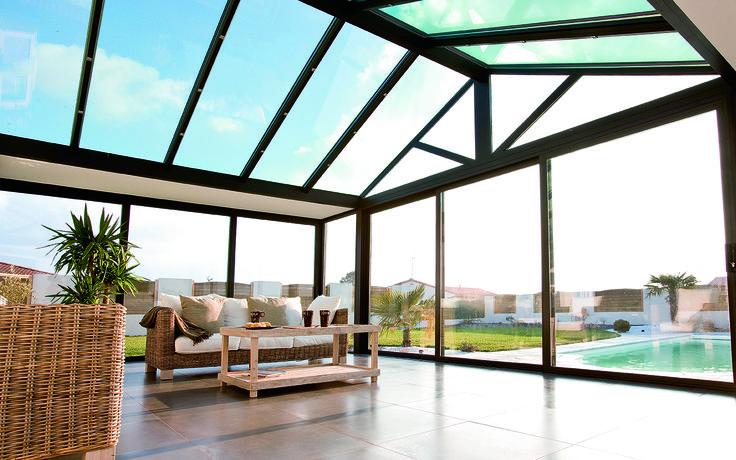 #veranda #conceptalu gamme #ARMONIA - #verrière sans frontières entre intérieur et extérieur