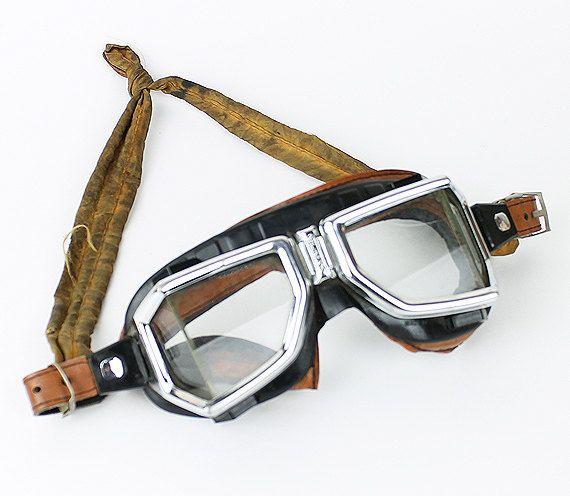 vintage 60s climax motorcycle goggles | case vintage antiques