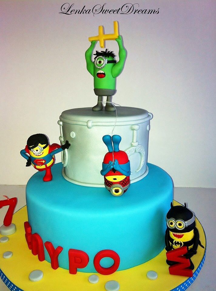 Superheroes Minions cake | Cakes and sweets from Lenka ...