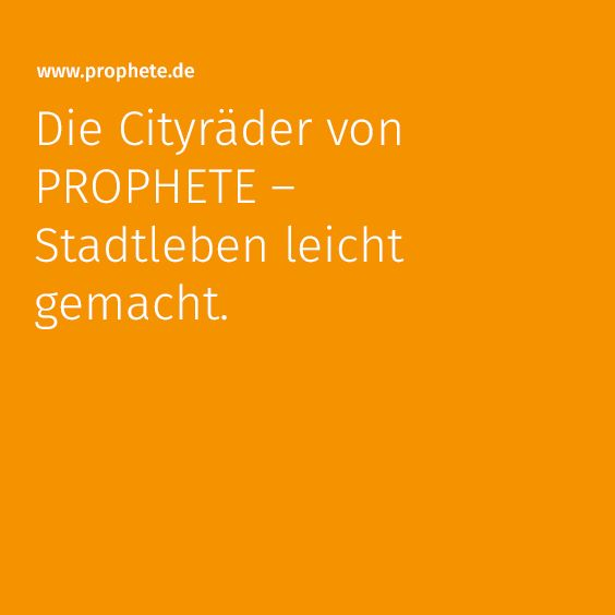 https://www.prophete.de/de/fahrrad/citybike.php #prophete #citybike