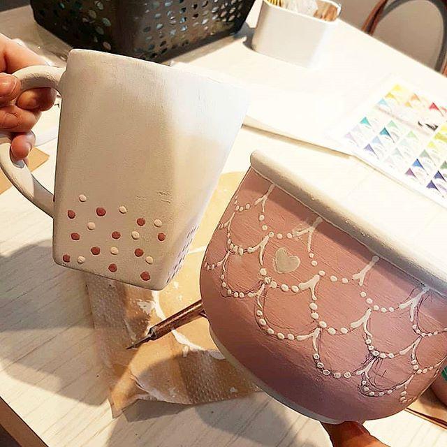 Des petits motifs trop cute 😍 Regram @mademoiselleha  #ceramiccafegp
