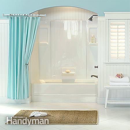 1000 ideas about bathtub surround on pinterest bathtub - Cost to tile bathroom tub surround ...