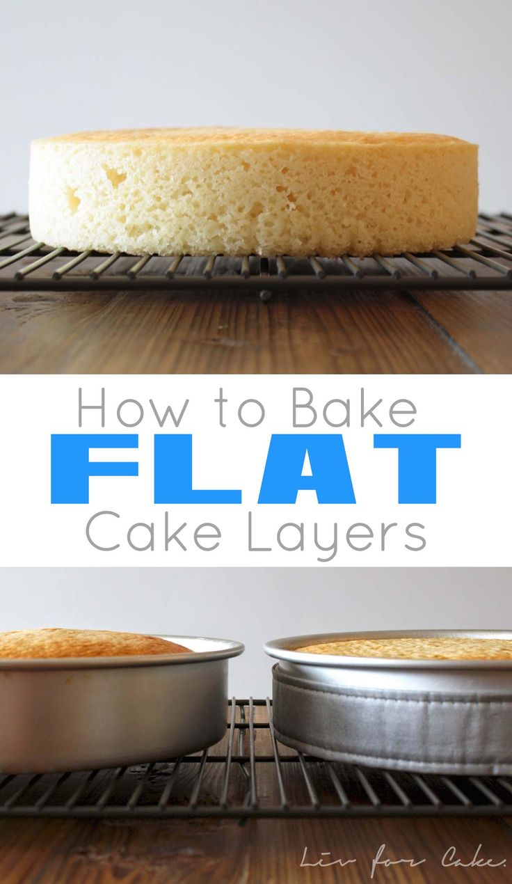 Learn how to bake up perfectly flat cake layers every time with this simple tutorial! | livforcake.com
