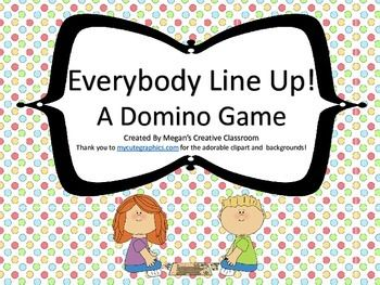 Dominoes make wonderful manipulatives! Build number skills with this game using addition, subtraction, multiplication, fractions and decimals! Encourage critical thinking and problem solving skills as students strategize while having fun and interacting with others.My students love games and I know yours will too!