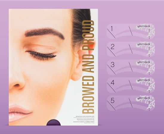 FREE Exclusive Eyebrow Stencils-Available till May 8th Only-Browed and Proud Kit! Perfectly shaped brows are an art and you own it. But no one has to know how easily you got them with this month's Customer Kudos! Turn heads and leave them talking with the Browed and Proud kit. #lynnsyounique