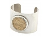 Silver and gold plated coin cuff