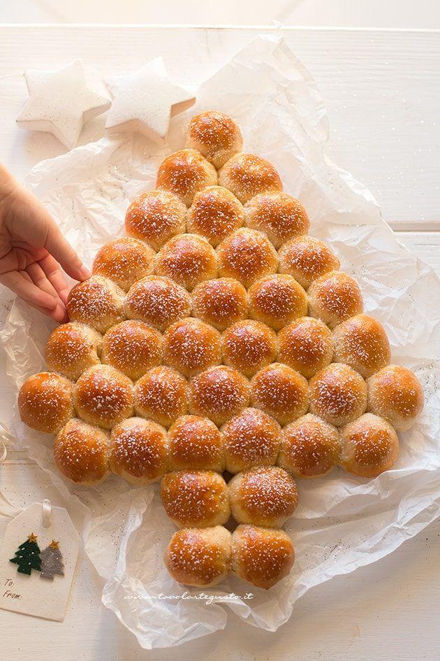 Albero di pan brioche alla nutella - Ricetta Albero di pan brioche alla nutella