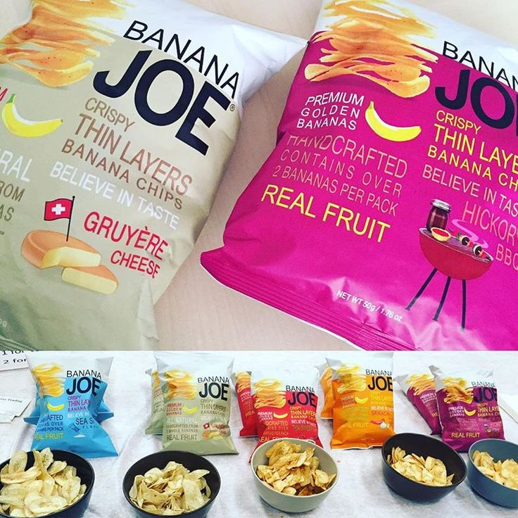 De her banan chips fra Banana Joe er vildt gode. 😋😮 Smagte dem til madmessen i Romalt hallen og måtte bare have nogen med hjem. @bananajoechips #bananajoechips #bananchips #desmagervildtgodt #madmesse #romalthallen