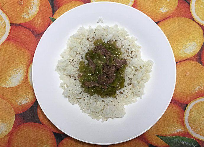 Arroz con ternera y pimientos verdes para #Mycook http://www.mycook.es/cocina/receta/arroz-con-ternera-y-pimientos-verdes
