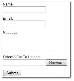 How to create PHP based email form with file attachment