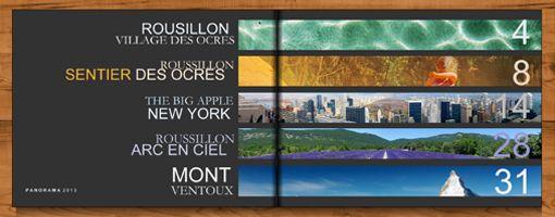 Fotoboek: panorama inhoudsopgave