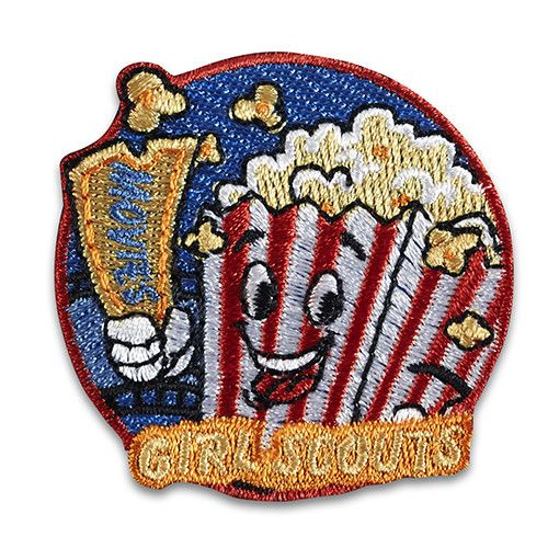 """2"""" round Embroidered Patch. All Fun Patches are unofficial and are not to be worn on the front of the Girl Scout sash, vest or tunic. All fun patch designs are exclusively owned by Girl Scouts of the USA."""