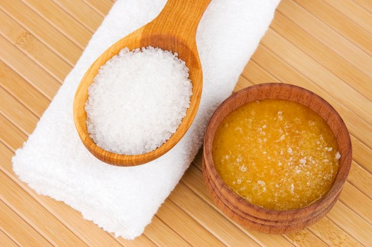 Salty-sweet home SPA with honey and sea-salt