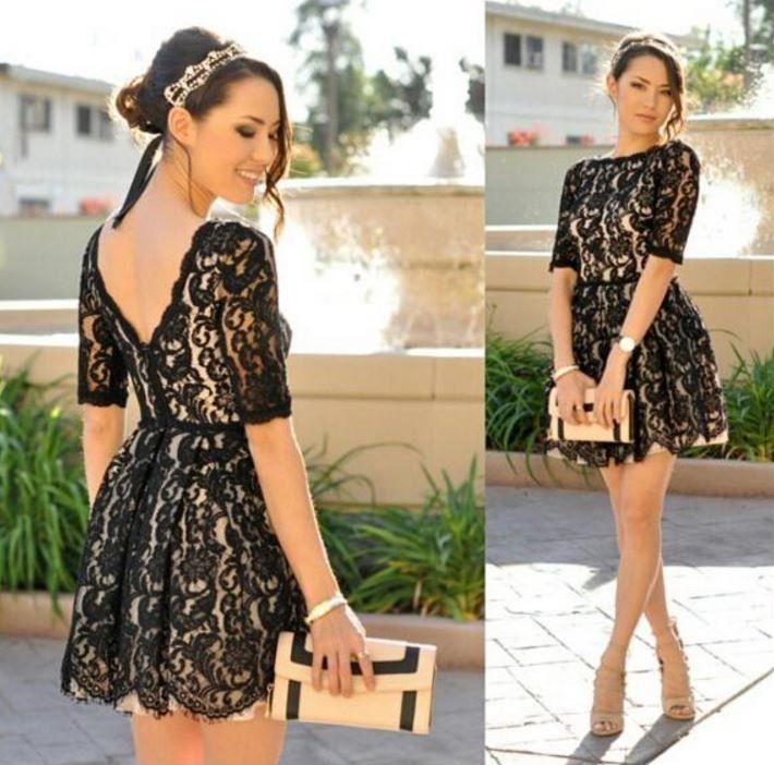 Stylové dámské šaty krajkové černé – Velikost L Na tento produkt se vztahuje nejen zajímavá sleva, ale také poštovné zdarma! Využij této výhodné nabídky a ušetři na poštovném, stejně jako to udělalo již velké množství …