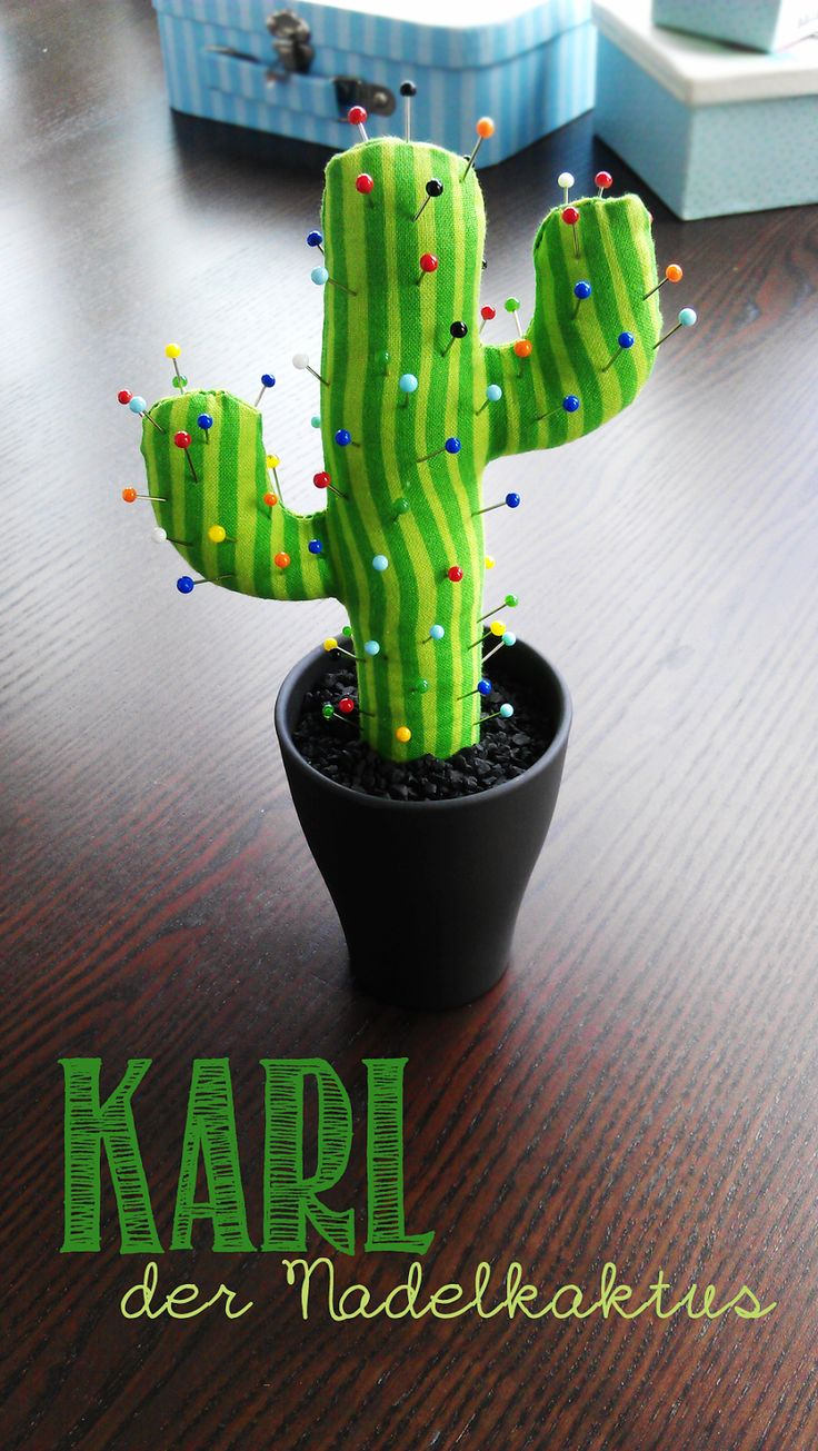 Cactus pin cushion tutorial.